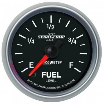 Auto Meter - Auto Meter Sport-Comp II Programmable Fuel Level Gauge - 2-1/16 in.