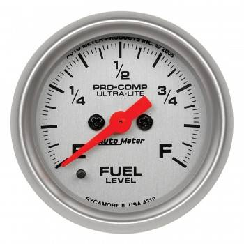Auto Meter - Auto Meter Ultra-Lite Electric Programmable Fuel Level Gauge - 2-1/16 in.