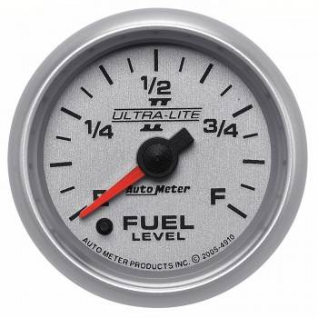 Auto Meter - Auto Meter Ultra-Lite II Electric Programmable Fuel Level Gauge 2-1/16 in.