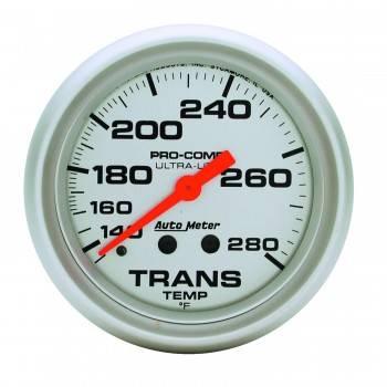 """Auto Meter - Auto Meter Ultra-Lite Transmission Temperature Gauge - 2-5/8"""" - 140°-280°"""