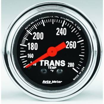 Auto Meter - Auto Meter Traditional Chrome - Mechanical Transmission Temperature Gauge - 2-1/16 in.