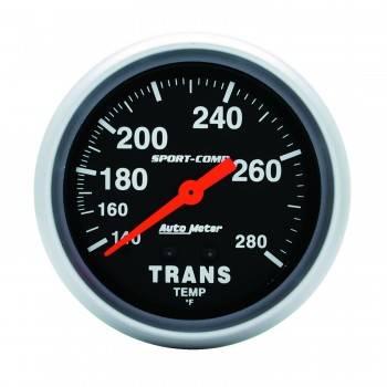 """Auto Meter - Auto Meter 140-280°  Sport-Comp Transmission Temperature Gauge - 2-5/8"""""""