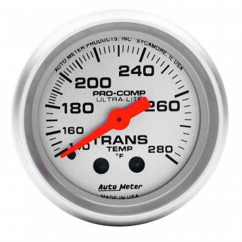 "Auto Meter - Auto Meter Mini Ultra-Lite Transmission Temperature Gauge - 2-1/16"" - 140°-280°"