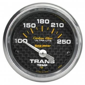 """Auto Meter - Auto Meter Carbon Fiber Electric Transmission Temperature Gauge - 2-1/16"""" - 100°-250° F"""