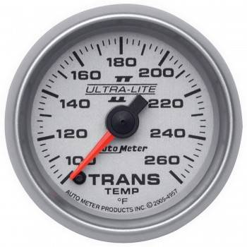 "Auto Meter - Auto Meter 2-1/16"" Ultra-Lite II Electric Transmission Temperature Gauge - 100-260°"
