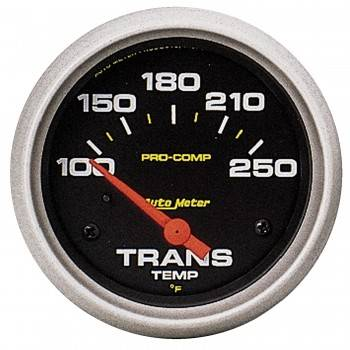 "Auto Meter - Auto Meter Pro-Comp Electric Transmission Temperature Gauge - 2-5/8"" - 100°-250°"