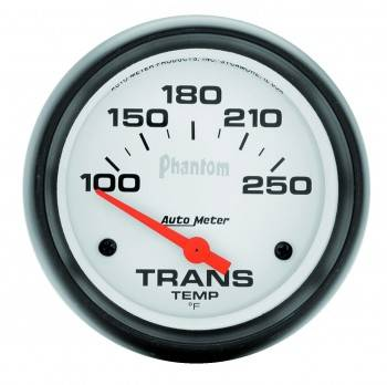 "Auto Meter - Auto Meter 2-5/8"" Phantom Electric Transmission Temperature Gauge - 100-250°"