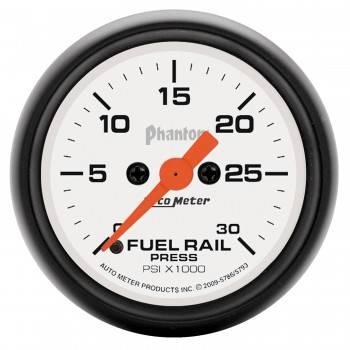 Auto Meter - Auto Meter 2-1/16 Rail Pressure Gauge - Dodge Diesel Truck