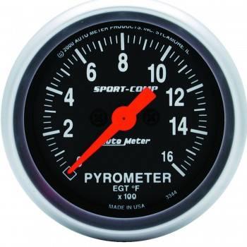 Auto Meter - Auto Meter Sport-Comp Electric Pyrometer Gauge - 2-1/16 in.