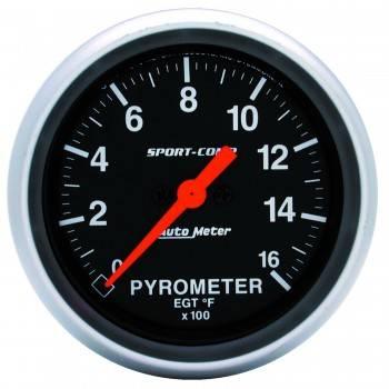 Auto Meter - Auto Meter Sport-Comp Electric Pyrometer Gauge - 2-5/8 in.