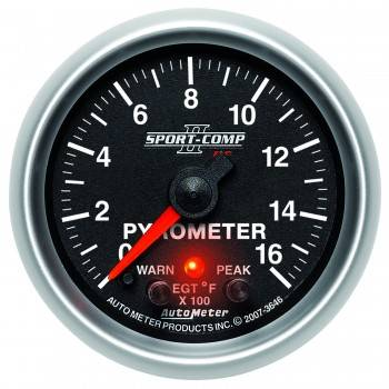 Auto Meter - Auto Meter 2-1/16 Sport-Comp II Pyrometer Kit 0-1600