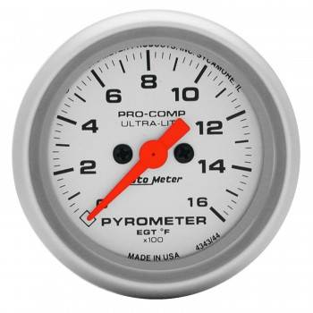 Auto Meter - Auto Meter Ultra-Lite Electric Pyrometer Gauge - 2-1/16 in.