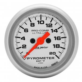 Auto Meter - Auto Meter Ultra-Lite Electric Pyrometer - 2-1/16 in.