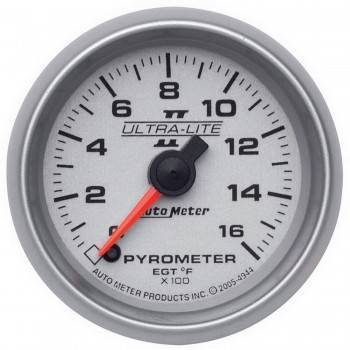 Auto Meter - Auto Meter Ultra-Lite II Electric Pyrometer Gauge Kit - 2-1/16 in.