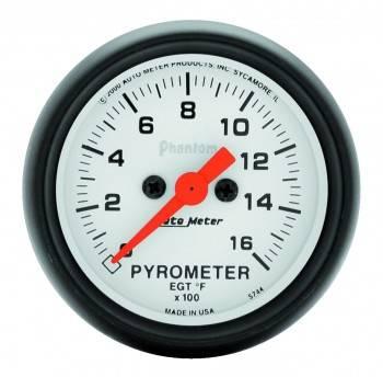"Auto Meter - Auto Meter Phantom Exhaust Gas Temperature Pyrometer Gauge - 2-1/16"" - 0-1600° F"