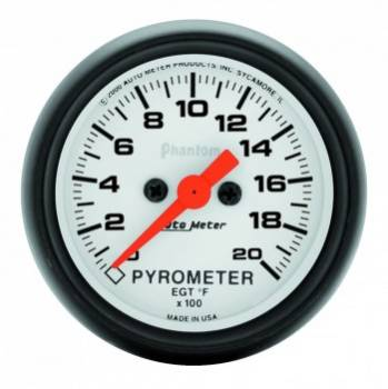 Auto Meter - Auto Meter Phantom Electric Pyrometer Gauge - 2-1/16 in.