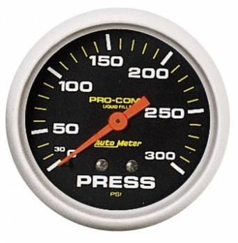 "Auto Meter - Auto Meter Pro-Comp Liquid Filled Pressure Gauge - 2-5/8"" - 0-300 PSI"