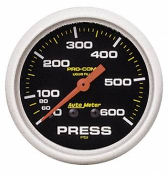 Auto Meter - Auto Meter Pro-Comp Liquid-Filled Mechanical Pressure Gauge - 2-5/8""