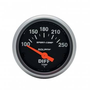 "Auto Meter - Auto Meter 2-1/16"" Sport Comp Electric Differential Temperature Gauge - 100 - 250° F"