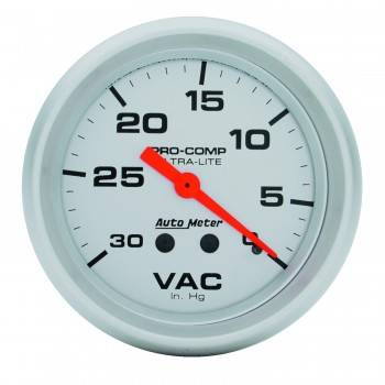 Auto Meter - Auto Meter Ultra-Lite Mechanical Vacuum Gauge - 2-5/8""
