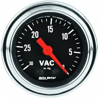 Auto Meter - Auto Meter Traditional Chrome - Mechanical Vacuum Gauge - 2-1/16""