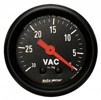 Auto Meter - Auto Meter Z-Series Mechanical Vacuum Gauge - 2-1/16""
