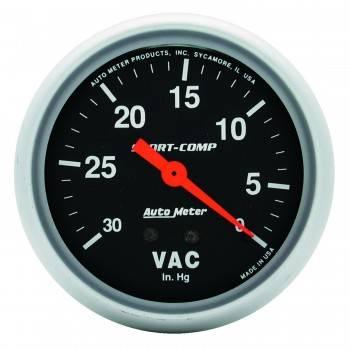 """Auto Meter - Auto Meter Sport-Comp Mechanical Vacuum Gauge - 2-5/8"""""""