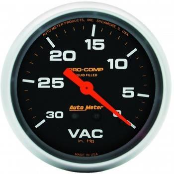"""Auto Meter - Auto Meter Pro-Comp Liquid Filled Vacuum Gauge - 2-5/8"""""""