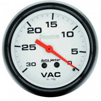 Auto Meter - Auto Meter Phantom Mechanical Vacuum Gauge - 2-5/8""