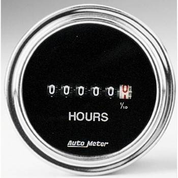 Auto Meter - Auto Meter Traditional Chrome Electric Hourmeter Gauge - 2-1/16 in.