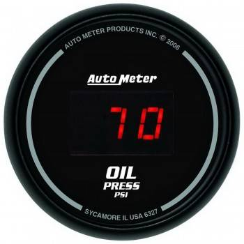 Auto Meter - Auto Meter Sport-Comp Digital Oil Pressure Gauge - 2-1/16 in.