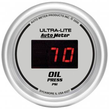 Auto Meter - Auto Meter Ultra-Lite Digital Oil Pressure Gauge - 2-1/16 in.
