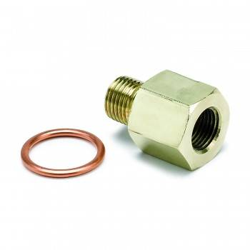 "Auto Meter - Auto Meter Metric Adapter - 1/8"" NPT to 10mm x 1"
