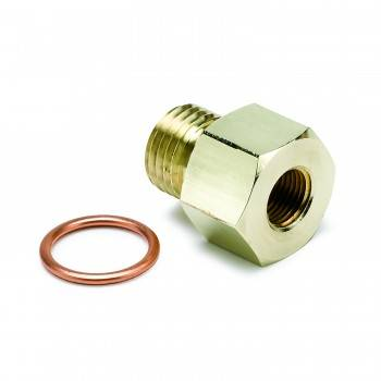 "Auto Meter - Auto Meter Metric Adapter - 1/8"" NPT to 14mm x 1.5"