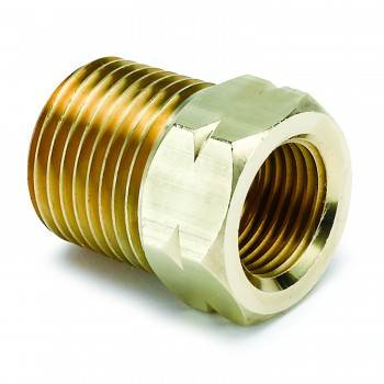 "Auto Meter - Auto Gage Temperature Adapter - 0.5"" Brass NPT"