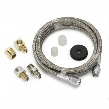 """Auto Meter - Auto Meter Braided Stainless Steel Hose - 6 Ft. #3 - 3/16"""" I.D. Fittings"""