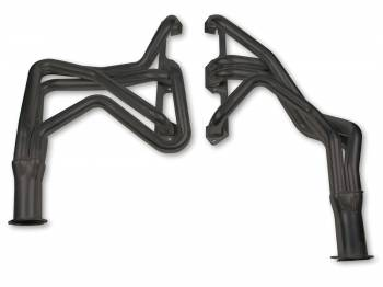 "Flowtech - Flowtech Long Tube Headers - 1967-74 Barracuda/Challenger/1966-78 Charger/Road Runner - 273/360 - 1.625"" - 3"" Collector - Black Paint"