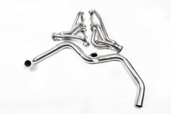 "Flowtech - Flowtech Mid-Length Headers w/ Y-Pipe - 1986-92 Camaro/Firebird w/ Single Cat - 305/350 - 1.5"" - 2.5"" Collector - Ceramic Coated"