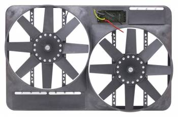 "Flex-A-Lite - Flex-A-Lite Dual 13-1/2"" Electric Fan System w/ Full Shroud And Variable Speed Controller"