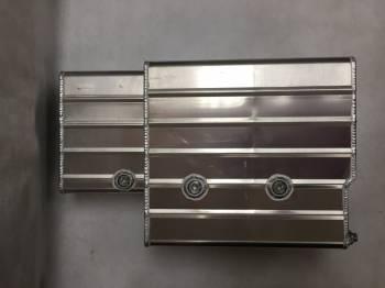 "Champ Pans - Champ Pans PRO1100KO Pro Series Aluminum Circle Track Oil Pan w/ Kickout  - 7"" Deep - 8-1/2 Quart - SB Chevy 1957-85"