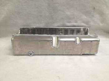 "Champ Pans - Champ Pans PRO171R3 Pro Series Aluminum Dry Sump Oil Pan  - (3) -10 AN Fittings LH - 4-1/4"" Deep - SB Chevy 1957-85 - Asphalt Late Models"