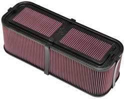 "K&N Filters - K&N Carbon Fiber Sprint Car Air Box - Siamese Stack - 19"" L x 7.5"" W x 6-1/2"" Tall"