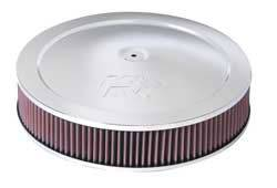 "K&N Filters - K&N Air Cleaner Assembly - Drop Base - Chrome - 14"" x 2-3/4"" - 5-1/8"" Carb Flange"