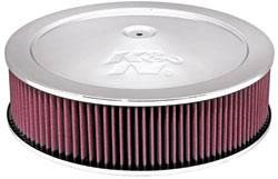 """K&N Filters - K&N Air Cleaner Assembly - Drop Base - Chrome - 14"""" x 3-3/4"""" - 5-1/8"""" Carb Flange"""