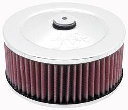 """K&N Filters - K&N Air Cleaner Assembly - Raised Base - Chrome - 7"""" x 3-15/16"""" - 5-1/8"""" Carb Flange"""