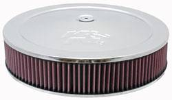 "K&N Filters - K&N Air Cleaner Assembly - Drop Base - Chrome - 14"" x 3-1/4"" - 5-1/8"" Carb Flange"
