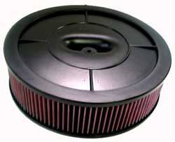 "K&N Filters - K&N Flow Control Air Cleaner - Drop Base - Plastic - Black - 14"" x 4"" - Holley 4412 w/ Choke Tower"