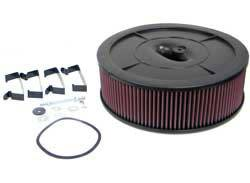 "K&N Filters - K&N Flow Control Air Cleaner - Drop Base - Plastic - Black - 14"" x 4"" - Holley 4412 w/o Choke Tower"