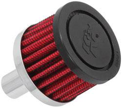 "K&N Filters - K&N Steel Base Fuel Cell, Rear End Breather Vent Filter (5/8"" Hose) - 5/8"" Flange I.D."