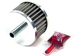 """K&N Filters - K&N Steel Base Fuel Cell, Rear End Breather Vent Filter - 1/2"""" Flange I.D."""